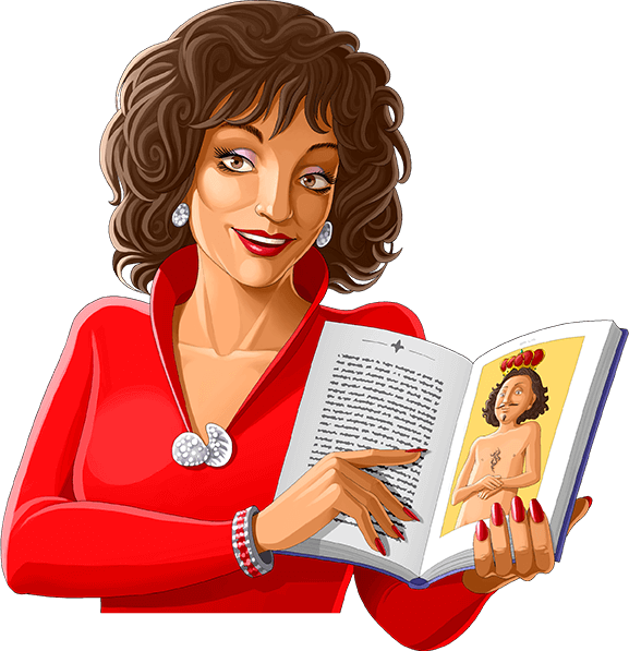 Joan Collins reading The Emperor's New Clothes